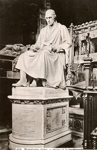 United Kingdom London Westminster Abbey Statue of James Watt Old Photo 1900