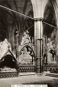 United Kingdom London Londres Westminster Abbey Crusader's Tombs Old Photo 1900