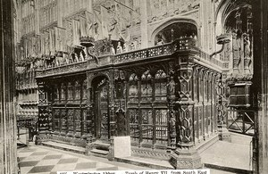 United Kingdom London Londres Westminster Abbey Tomb of Henry VII Old Photo 1900