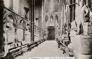 United Kingdom London Londres Westminster Abbey West Aisle Old Photo 1900