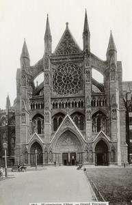 United Kingdom London Londres Westminster Abbey Grand Entrance Old Photo 1900