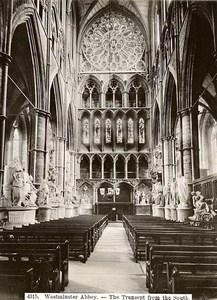 United Kingdom London Westminster Abbey Transept from South Old Photo 1900