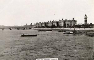 United Kingdom London Londres St Thomas Hospital Old Photo 1900