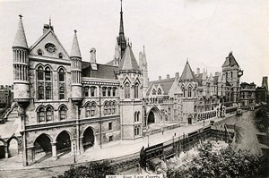 London Londres New Law Courts Royal Courts of Justice Old Photo 1900
