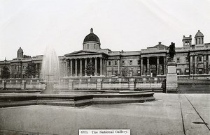 United Kingdom London Londres the National Gallery Old Photo 1900