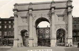 United Kingdom London Londres Hyde park the Marble Arch Old Photo 1900