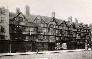 United Kingdom London Londres Holborn Old Houses Old Photo 1900