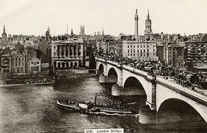 United Kingdom London Bridge Londres Thames Paddle Steamer Old Photo 1900