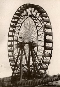 United Kingdom London Londres Earl's Court Great Wheel Old Photo Waterlow 1900