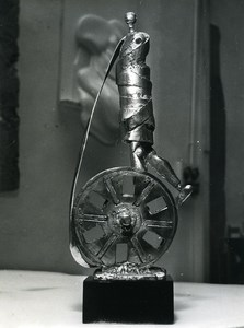 France Paris Sculptor Cesar First Cesar Trophy Cinema Old Photo Serge Lido 1976