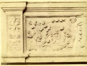 France Landes Chateau de Paguy Ornementation Architecture ancienne Photo 1880