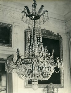 France Versailles Grand Trianon Empire Style Chandelier Old LP Photo 1900