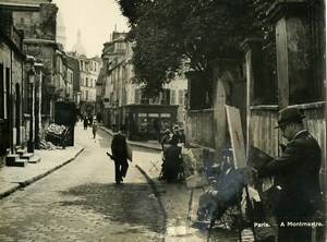 France Paris Montmartre Painters Street Artists Old Photo 1940
