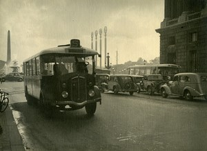 France Paris World Fair La Concorde Bus Automobiles Old Photo Knecht 1937
