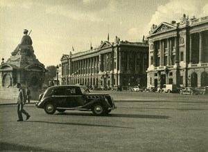 France Paris Place de la Concorde Automobile Old Photo Sylvain Knecht 1937