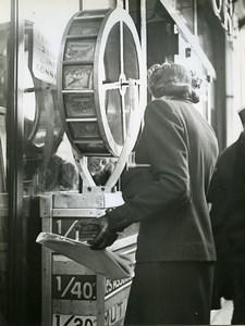 France Paris National Lottery Kiosk Loterie Nationale Ergy Landau Photo 1940's