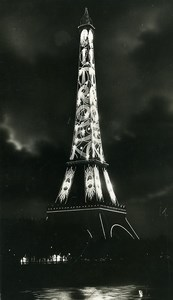 Paris by Night Tour Eiffel Tower Publicity Citroen Old Photo Borremans 1925