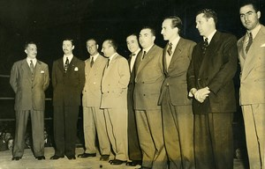 Argentina Buenos Aires Boxing Match at Luna Park Old Photo 1950
