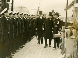 Portsmouth William Bridgeman visiting Presidente Sarmiento Ship Old Photo 1928