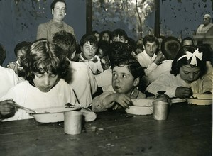 Argentina Buenos Aires Children Group Creation of school canteens Old Photo 1941