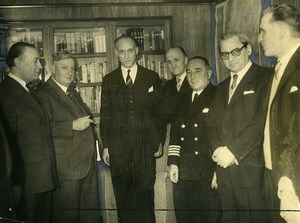 Argentina Buenos Aires Minister of Transport Rear Admiral Bonnet Old Photo 1957