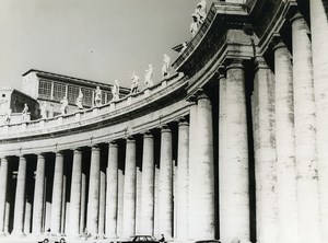 Italy Roma Rome Saint Peter's Square Old Photo 1961