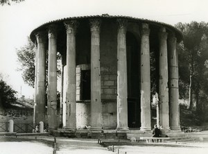 Italy Roma Rome Temple of Hercules Victor Old Photo 1961