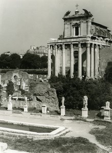 Italy Roma Rome Forum Foro Romano House of the Vestals Old Photo 1961