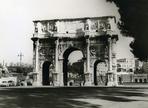 Italy Roma Rome Arch of Constantine Old Photo 1961