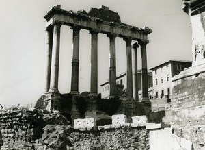 Italy Roma Rome Forum Foro Romano Old Photo 1961