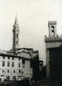 Italy Florence Firenze Bargello & Badia Old Photo 1961