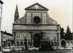 Italy Florence Firenze Church Santa Maria Novella Old Photo 1961