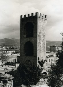 Italy Florence Firenze Torre San Niccolo Piazza Poggi Old Photo 1961