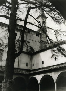Italy Florence Firenze Cloister of Church San Marco Old Photo 1961