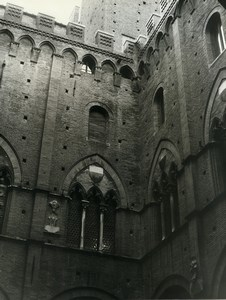 Italy Sienne Siena Interior Courtyard City Hall Old Photo 1961