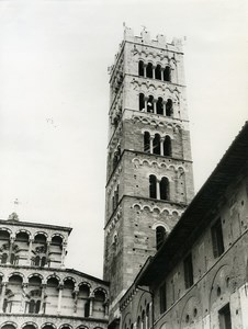 Italy Lucca Duomo & Campanile Old Photo 1961