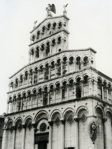 Italy Lucca Church San Michele in Foro Old Photo 1961