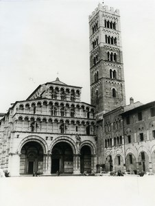 Italy Duomo di Lucca Cathedral Old Photo 1961