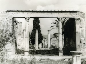 Italy Pompei Pompeii Ruins Old Photo 1961