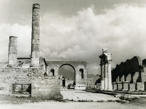 Italy Pompei Pompeii Forum Old Photo 1961