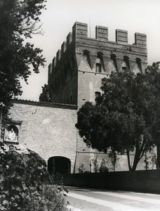 Italy Abbey of Monte Oliveto Maggiore Medieval Tower Old Photo 1961