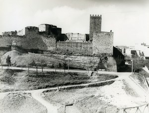 Italy Sicily Enna Panorama Lombardy Castle Old Photo 1961
