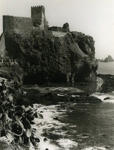 Italy Sicily Catania Aci Castello Old Photo 1961