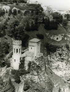 Italy Sicily Erice Norman Castle Old Photo 1961