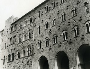 Italy Volterra City Hall Square Old Photo 1961