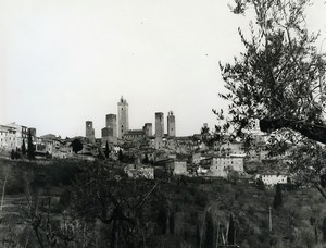 Italy San Geminiano Panorama Old Photo 1961
