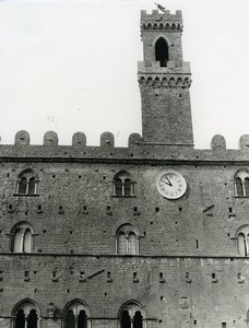 Italy Volterra Podestat Old Photo 1961