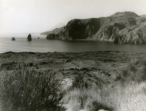 Italy Sicily Lipari seaside Old Photo 1961