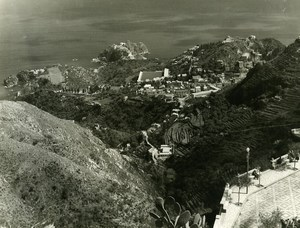 Italie Taormine Taormina Panorama ancienne Photo 1961