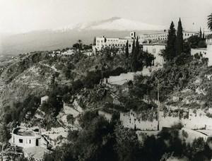 Italy Taormina Panorama Old Photo 1961